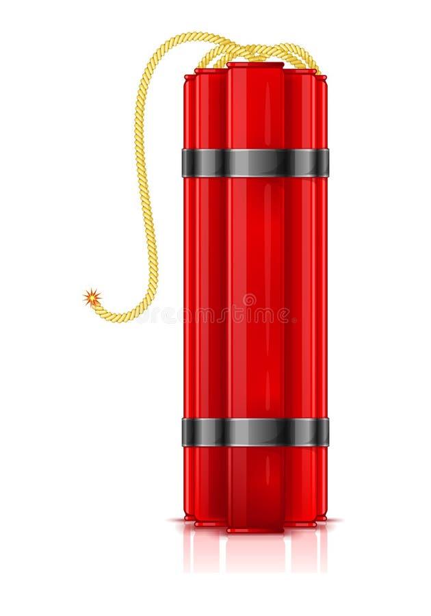 Palillos rojos de la dinamita ilustración del vector