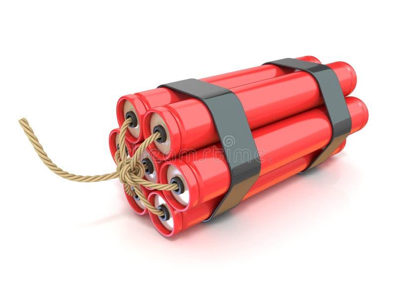 Palillos rojos de la dinamita - TNT con la mecha libre illustration