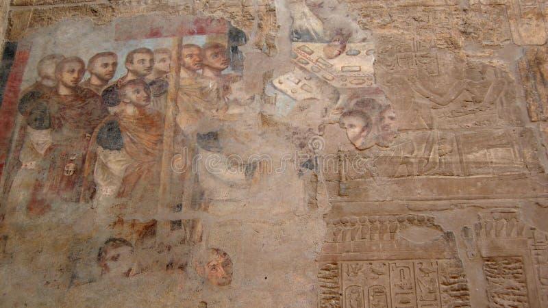 Palimpsesto: cristandade e faraó, Templo de Luxor, Egito imagens de stock royalty free