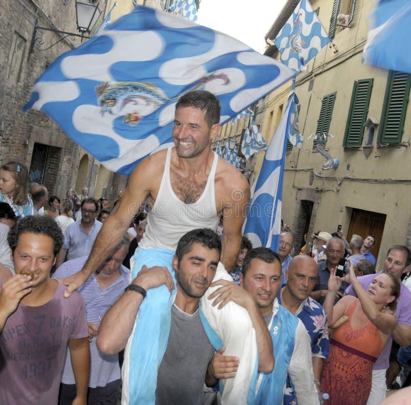 Palio de Siena 2012 fotos de stock royalty free