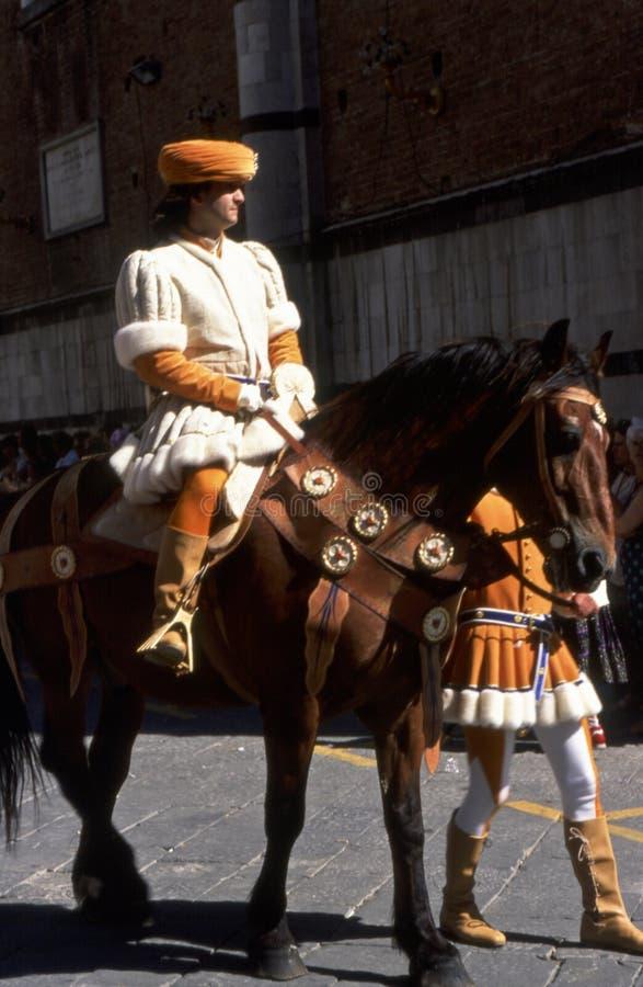 Palio-Di Siena - Juli 2003 lizenzfreies stockfoto