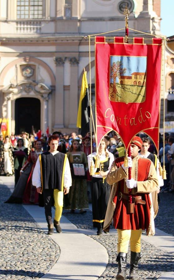 Palio di Vigevano Italia fotografia stock