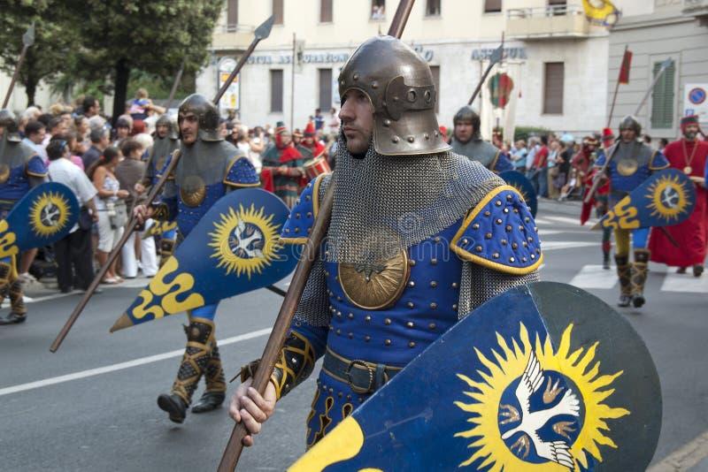 Palio em Arezzo foto de stock royalty free