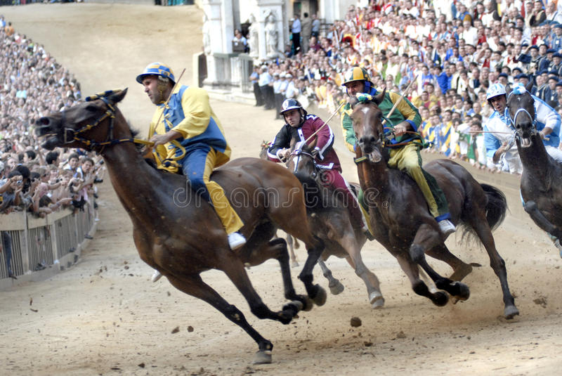 Palio in Siena royalty-vrije stock foto's