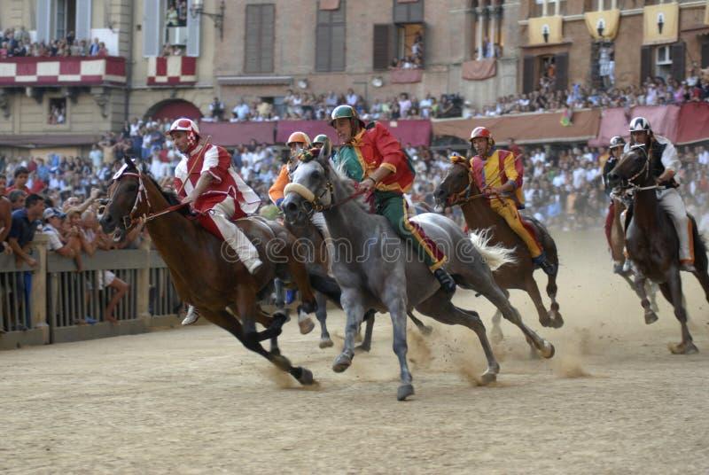 Palio van Siena stock afbeeldingen