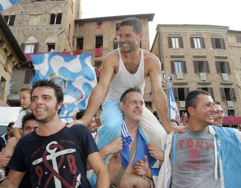 Palio van Siena 2012 stock afbeelding