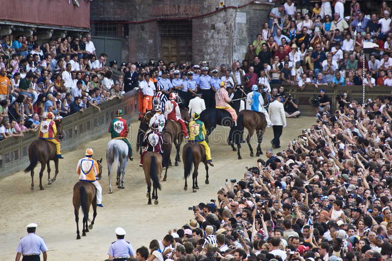 Palio van Siena royalty-vrije stock foto's