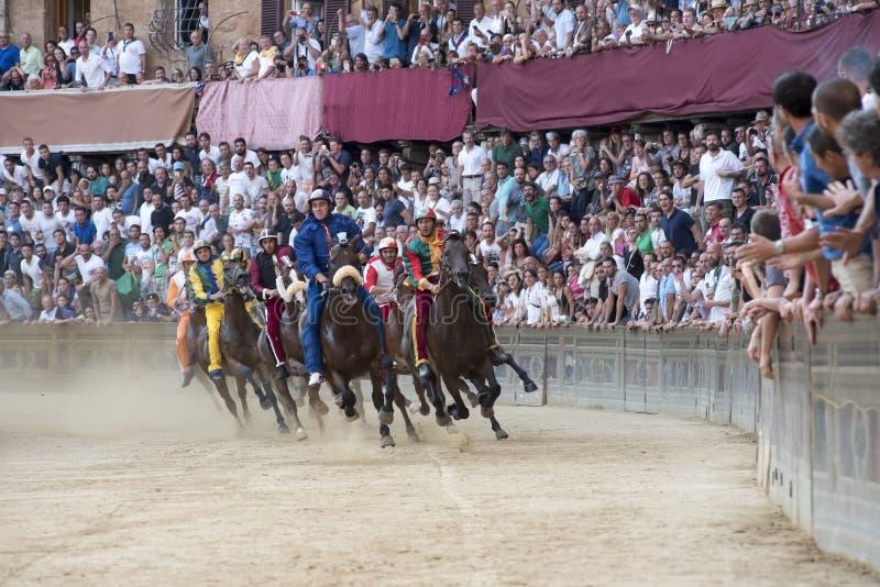 Palio van Siena royalty-vrije stock afbeelding