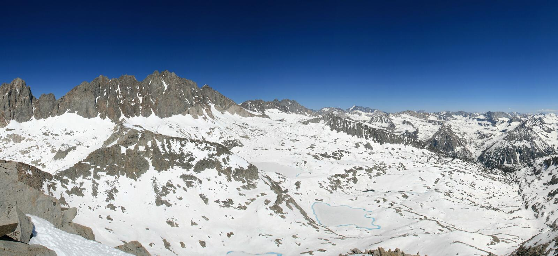 Palisade Basin panorama stock photo