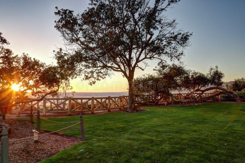 Palisades Park, Santa Monica California. Late afternoon at Palisades park,Santa Monica California stock photos