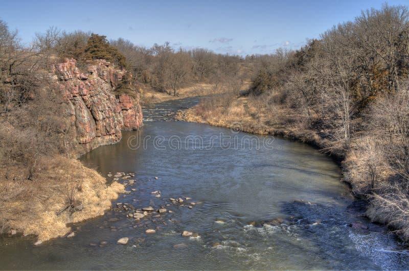 Palissaddelstatsparken är i South Dakota nära staden av Garretson royaltyfri fotografi