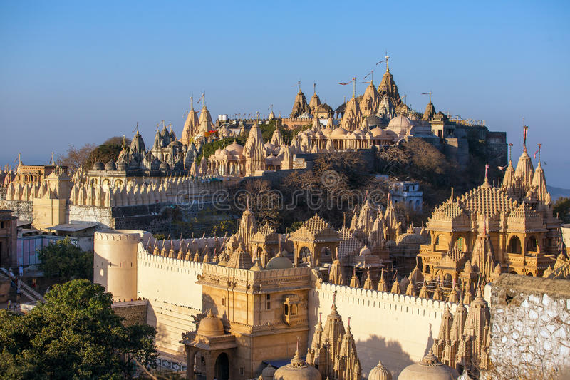 Palitana in Gujarat, India stock fotografie