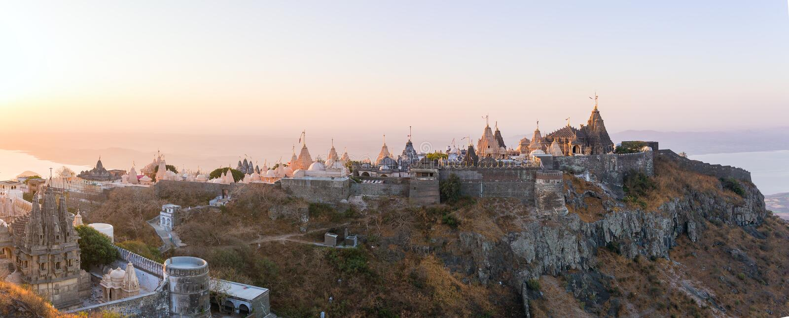 Palitana (secteur de Bhavnagar), Goudjerate, Inde photo libre de droits