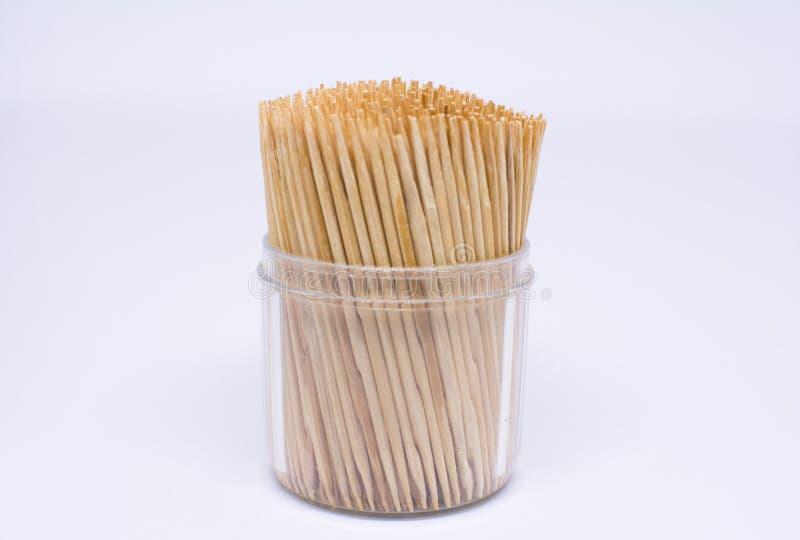 Palitos de madeira no fundo branco foto de stock