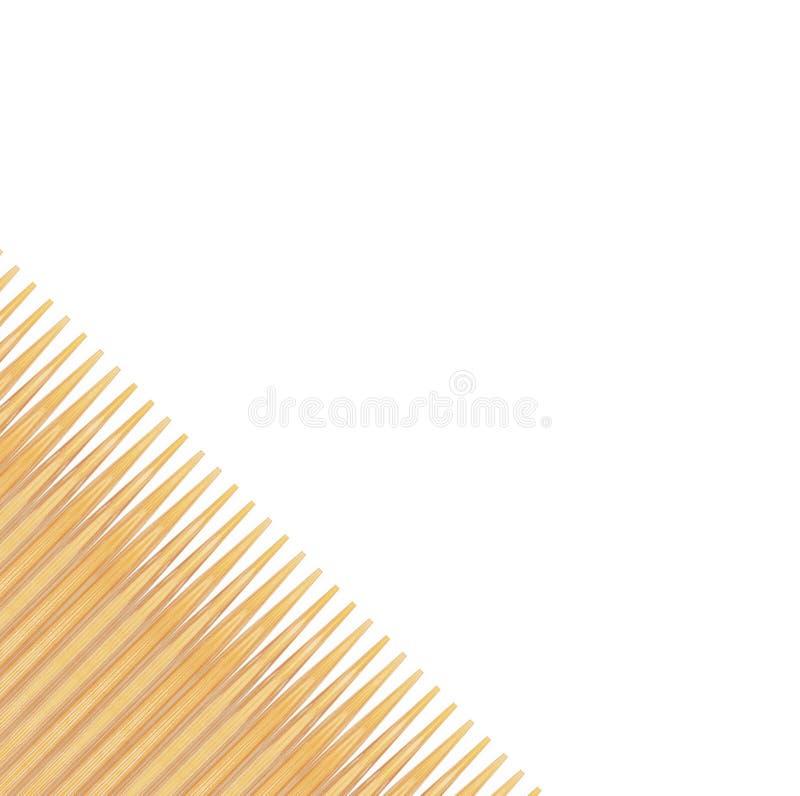 Palitos de madeira no fundo branco imagem de stock