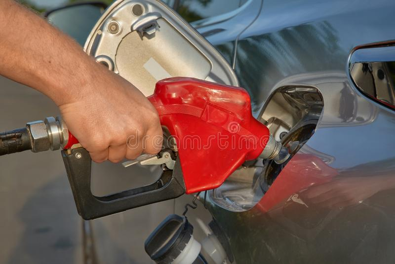 Paliwowego Nozzle Podsadzkowy samochód obrazy stock