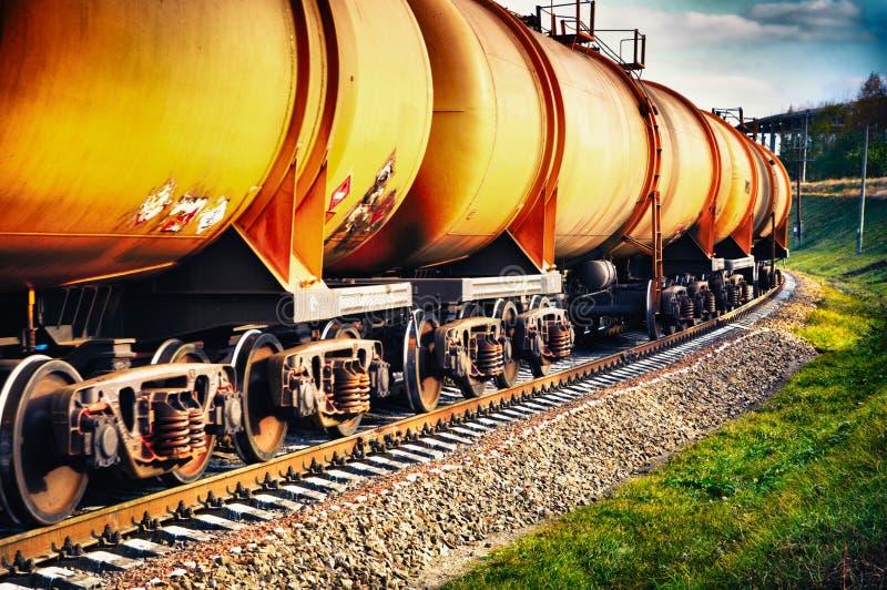 paliwowej benzyny kolejowy zbiorników pociąg obraz stock