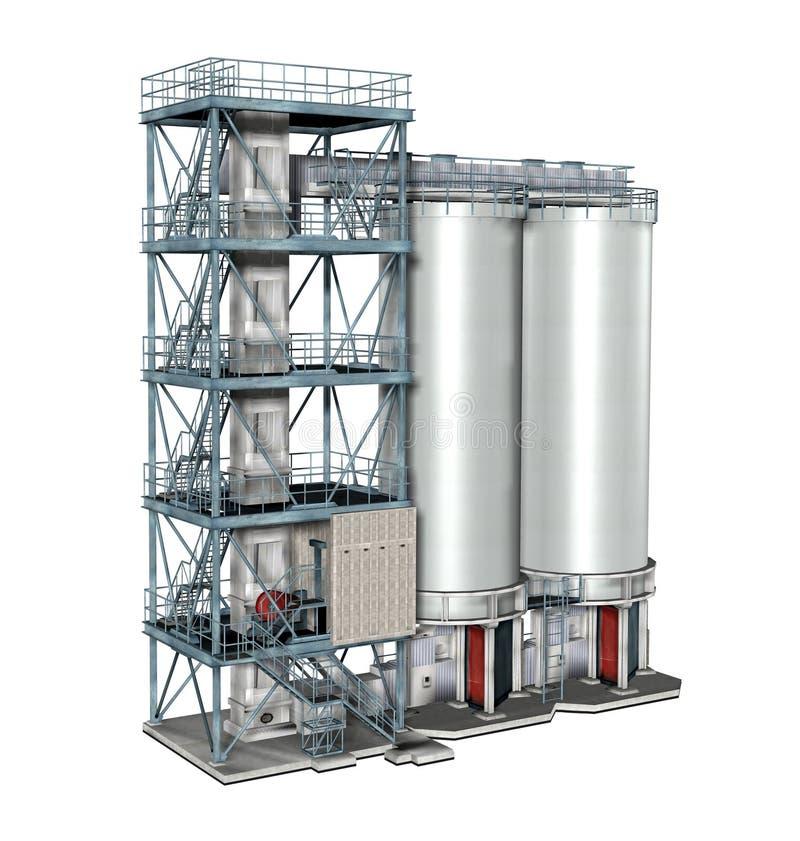 Paliwowi składowi zbiorniki ilustracja wektor