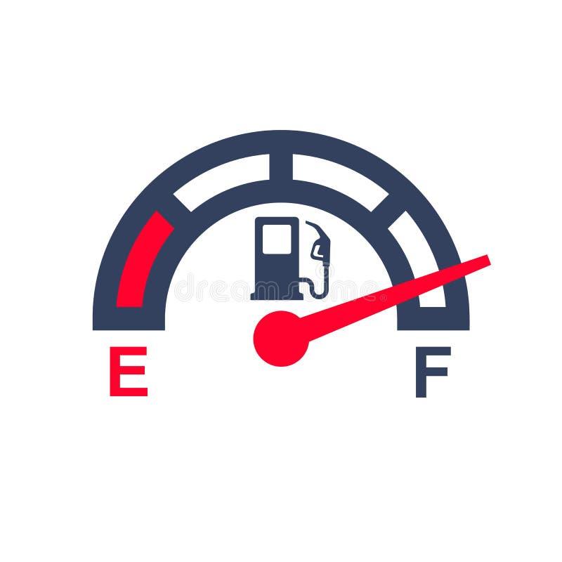 Paliwowy metr Benzynowy wymiernik ilustracja wektor