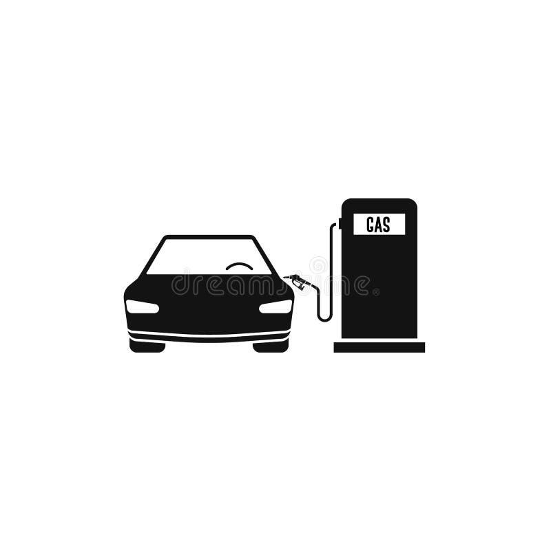 paliwowy stacja gaz, samochód i pojęcie samochodowy plombowanie EPS10 royalty ilustracja