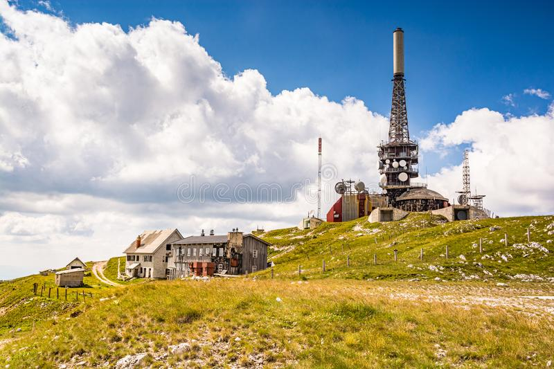 Paljenik is a high mountain peak at an elevation of 1.933m above the sea level in the Vlasic mountain, Bosnia and Herzegovina.  royalty free stock image