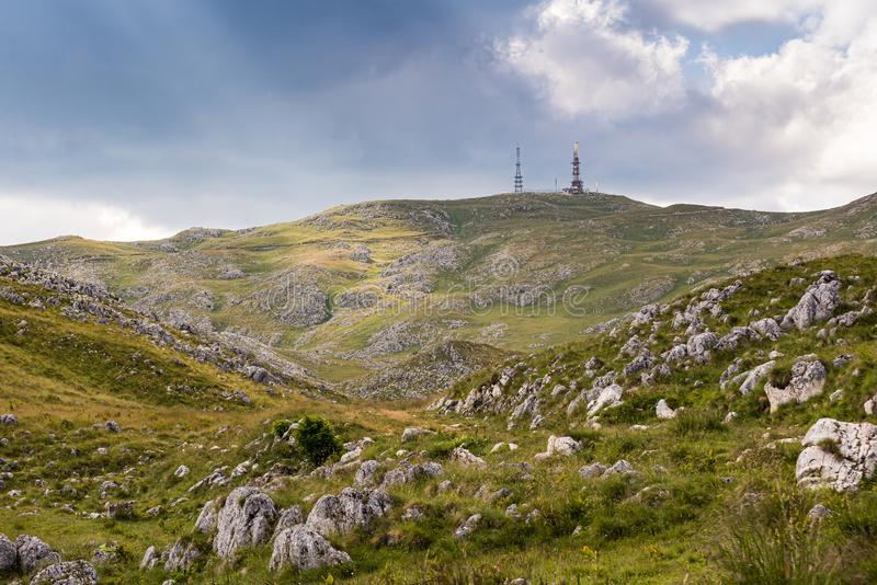 Paljenik is a high mountain peak at an elevation of 1.933m above the sea level in the Vlasic mountain, Bosnia and Herzegovina.  stock photos