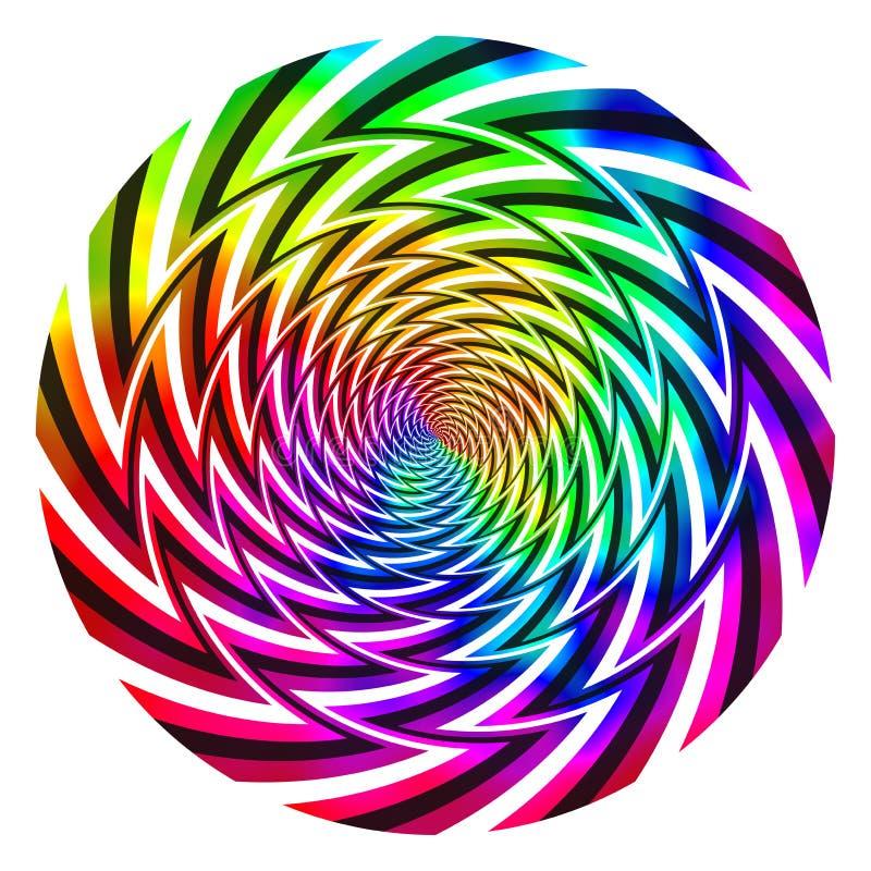Palla astratta di vortice di energia dell'arcobaleno immagini stock