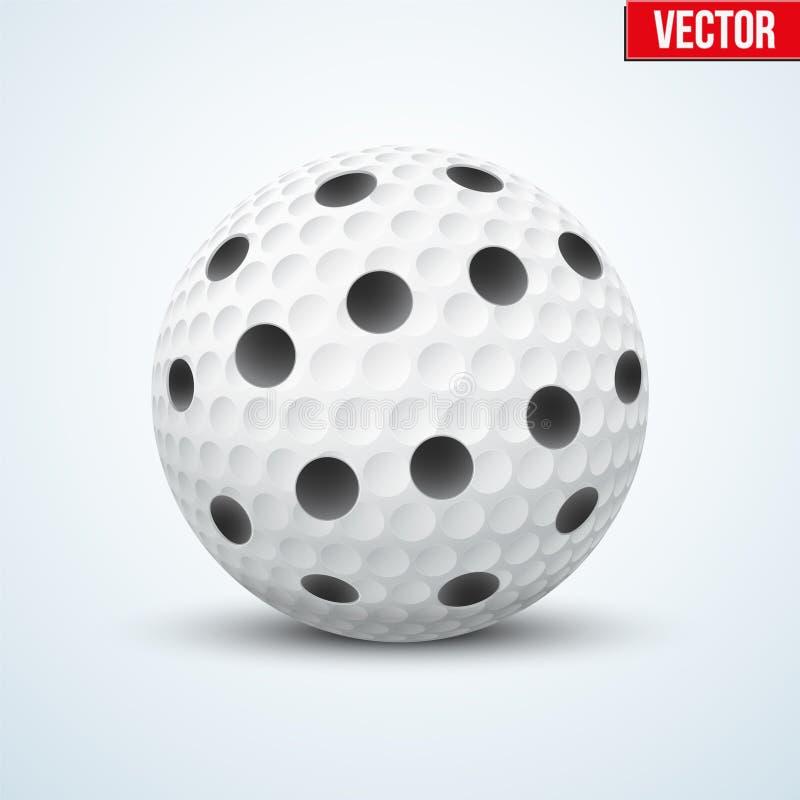 Palla bianca di Floorball di vettore illustrazione di stock