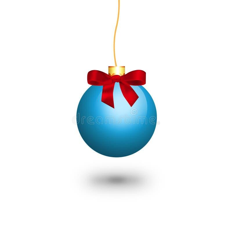 Palla blu di natale illustrazione vettoriale