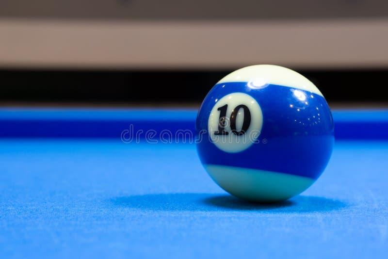Palla da biliardo numero 10 fotografia stock libera da diritti