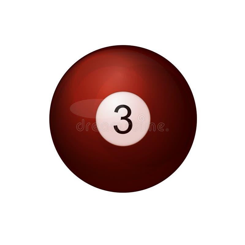 Palla da biliardo rossa numero otto royalty illustrazione gratis