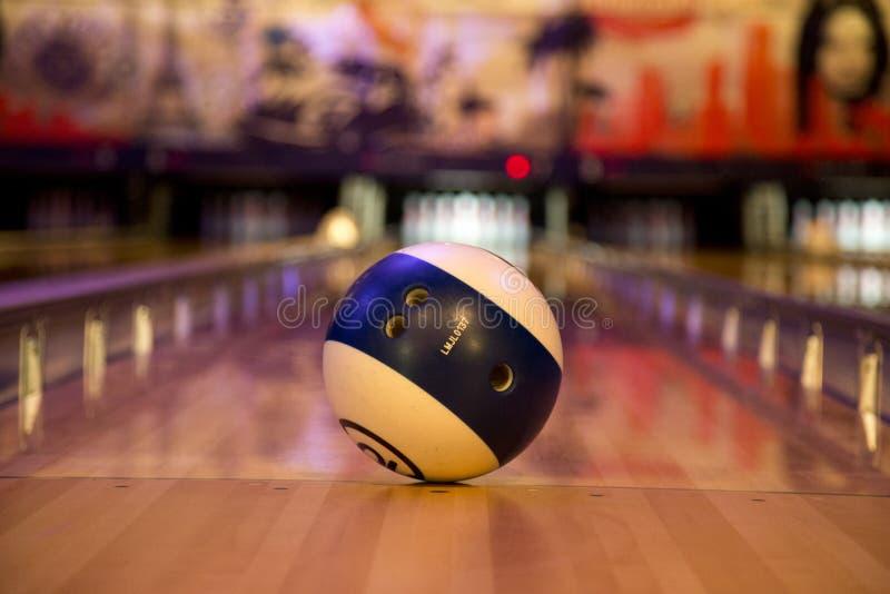 Palla da bowling fotografia stock