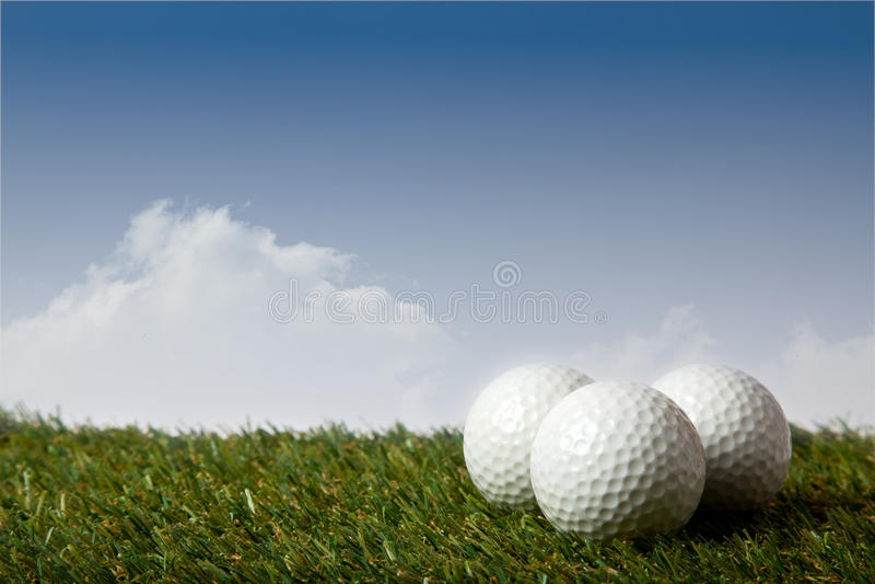 Palla da golf fotografie stock libere da diritti