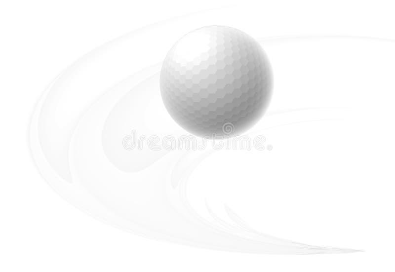 Palla da golf illustrazione di stock