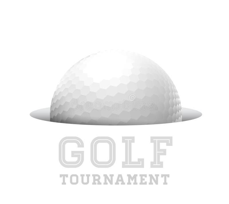 Palla da golf. illustrazione vettoriale