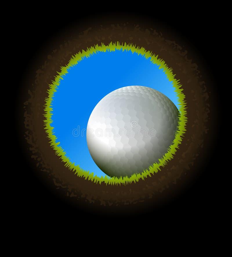 Palla da golf. royalty illustrazione gratis