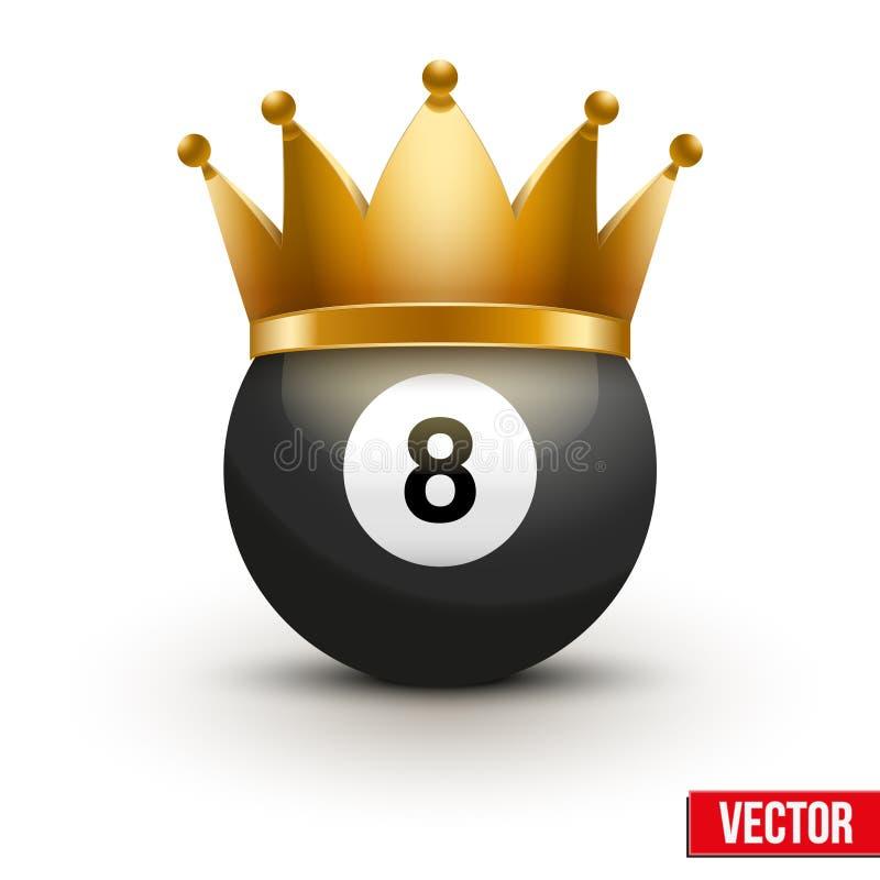 Palla da golf con la corona di re illustrazione vettoriale