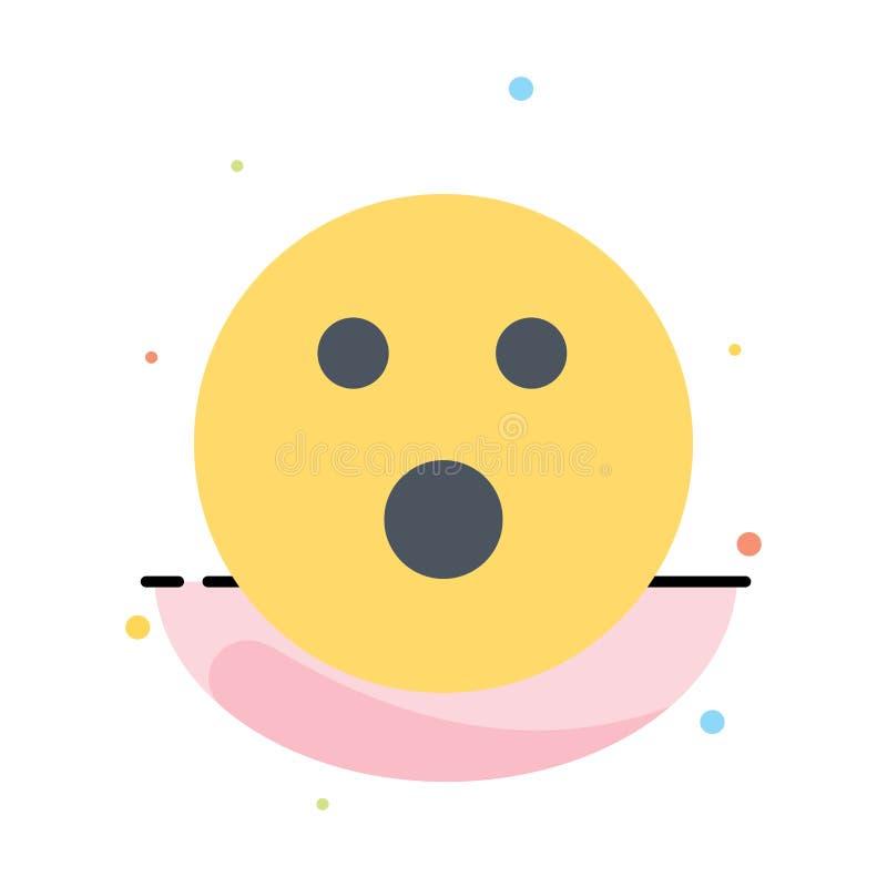 Palla da golf, fallo, sport, modello piano dell'icona di colore dell'estratto del gioco illustrazione di stock