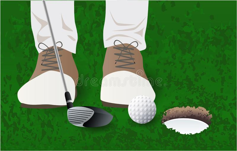 Palla da golf, giacimento del club di golf del giocatore di golf royalty illustrazione gratis