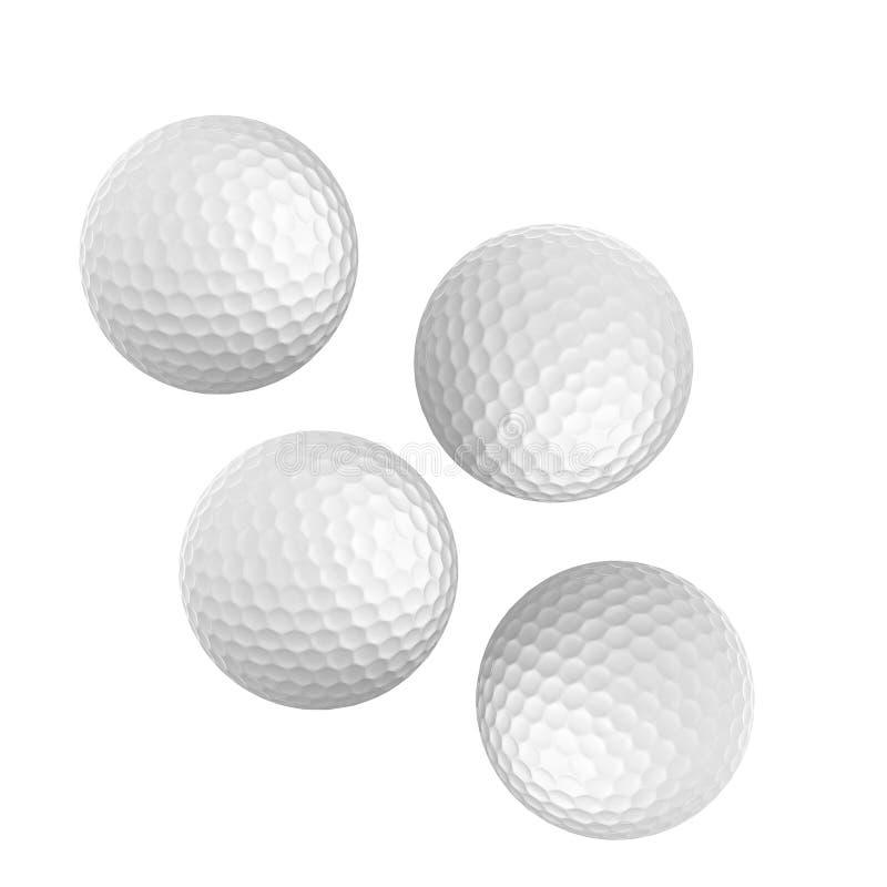 Palla da golf piacevole isolata su bianco illustrazione di stock