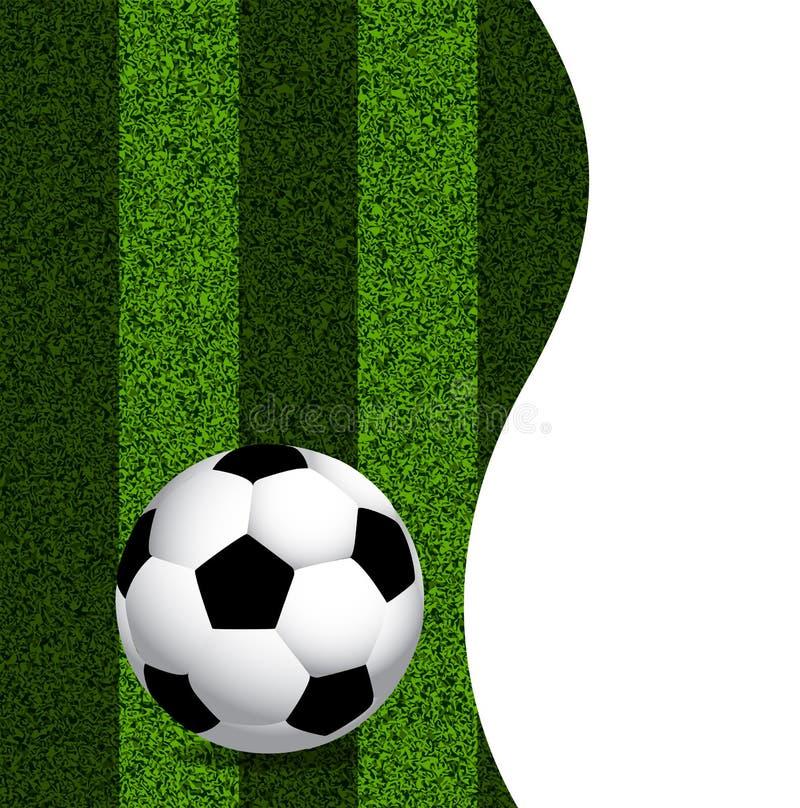 Palla da golf su un prato inglese verde illustrazione vettoriale