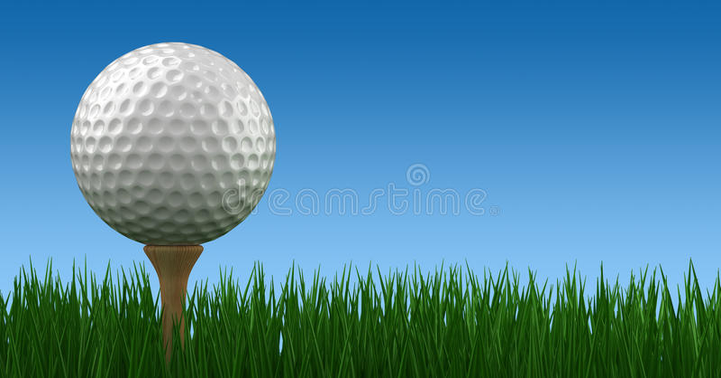 Palla da golf sul T illustrazione vettoriale