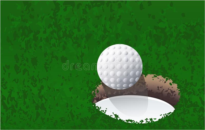 Palla da golf vicino allo sport del foro di golf royalty illustrazione gratis