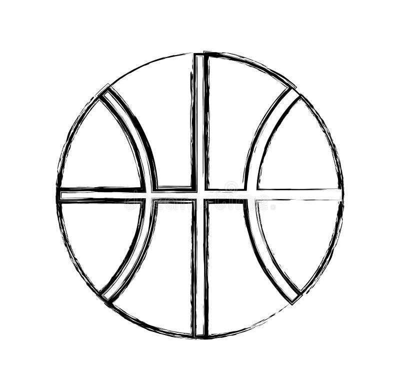 Palla del canestro isolata illustrazione vettoriale