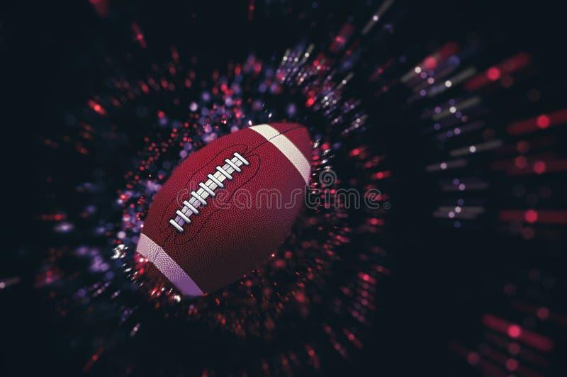 Palla del gioco di football americano immagine stock libera da diritti