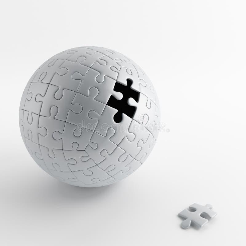 Palla del puzzle grigio illustrazione di stock - Collegamento stampabile un puzzle pix ...