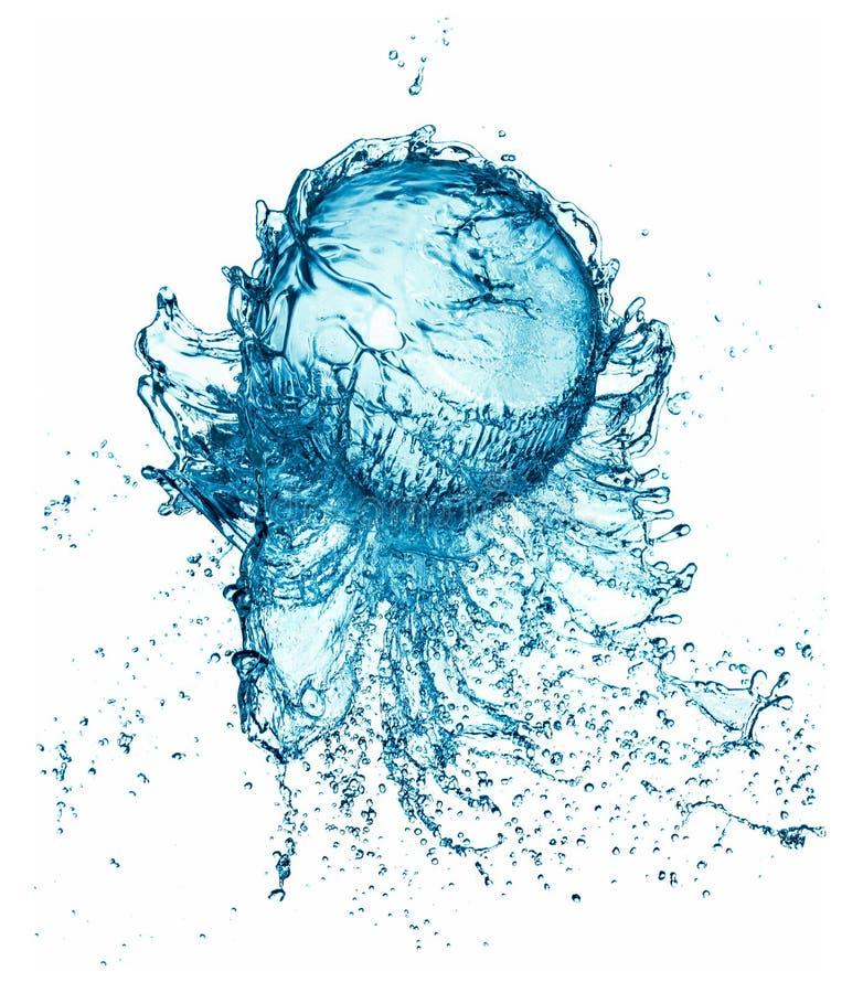Palla dell'acqua della spruzzata isolata fotografia stock