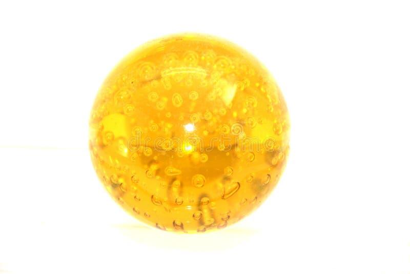 Palla dell'olio dell'oro giallo fotografia stock libera da diritti
