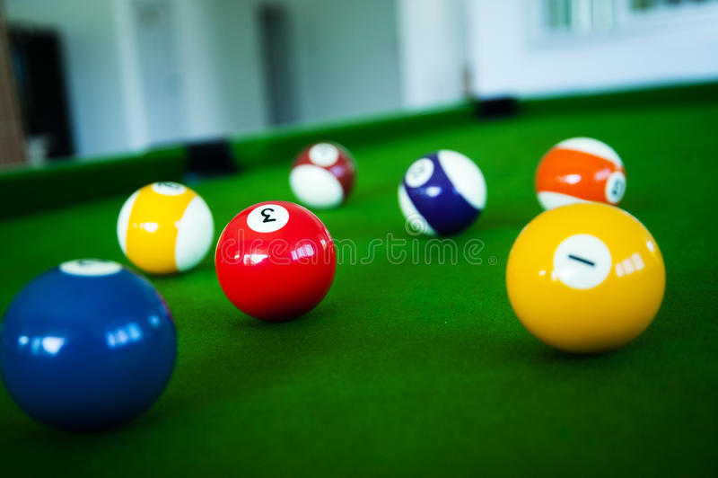Palla dello snooker fotografia stock libera da diritti
