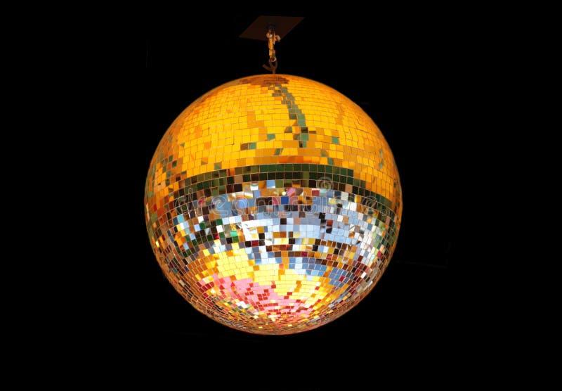 Palla dello specchio con le multi riflessioni colorate immagine stock